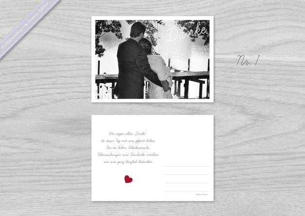 ♥ Danksagung mit Foto ♥ Postkarte ♥