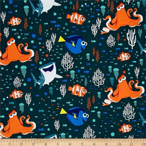 Disney Fabric Cartoon Fabric: Finding Dory Fabric by Angelfabric