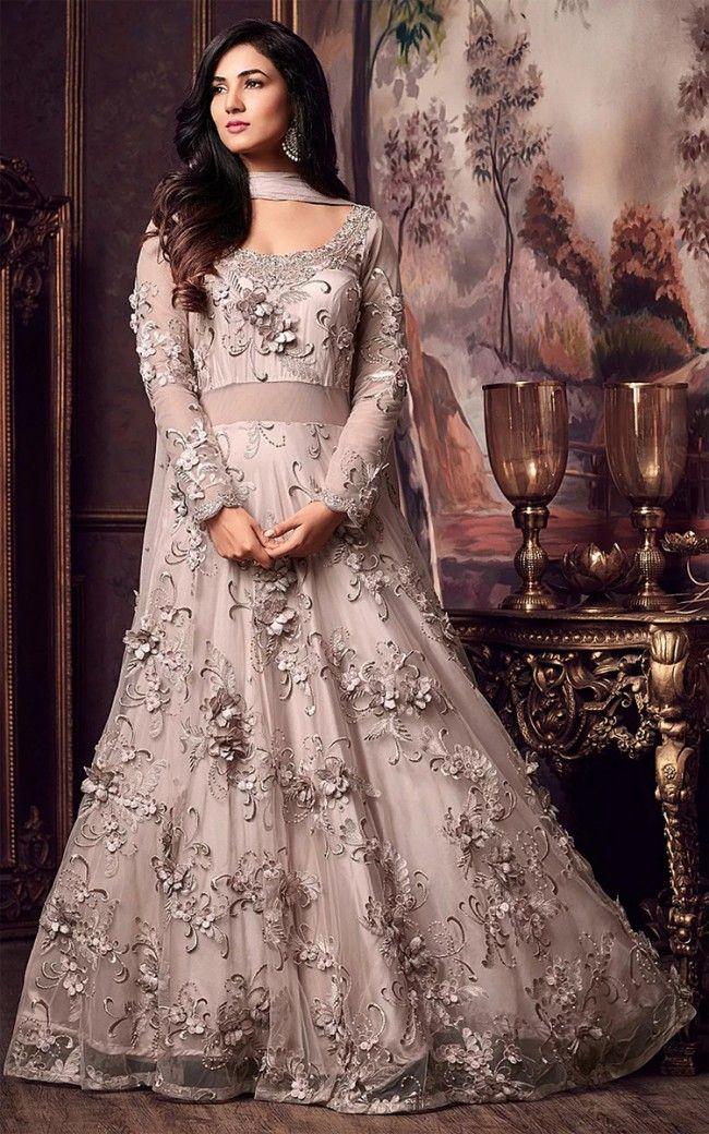 53b7580606 Light Rose Gold Net Abaya Style Suit in 2019 | Salwar Kamee | Designer  anarkali dresses, Anarkali suits, Salwar suits party wear
