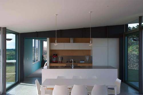Pekapeka Beach House, Holiday House Design by Parsonson Architects - Kitchen view