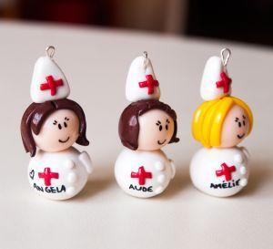 Porte clé personnalisé infirmière