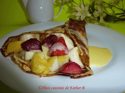 Les plats cuisinés de Esther B: Crêpes sucrées