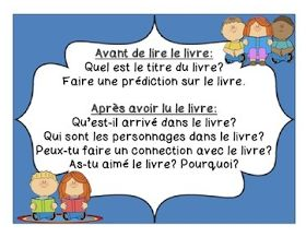 Primary French Immersion Resources: FREE partner reading questions card