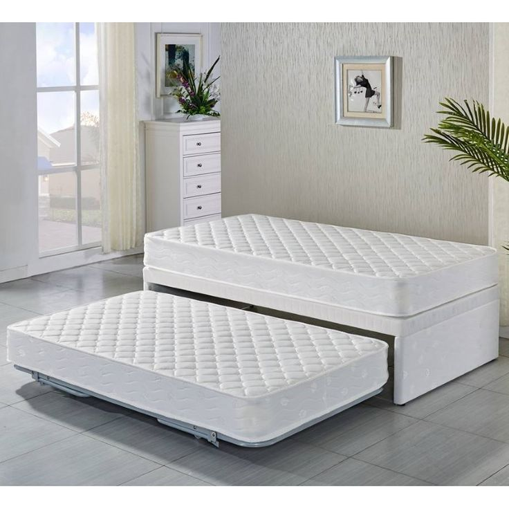 Single Fabric Bed Base W Trundle 2 Mattresses Ping Beds Online