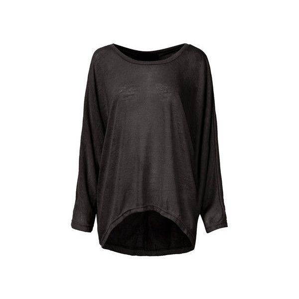 Plus Size Loose Batwing Sleeve Soild Women T-shirt ($16) ❤ liked on Polyvore featuring tops, t-shirts, black, women plus size tops, plus size women's t shirts, loose t shirt, plus size t shirts, loose tops and loose fit t shirts