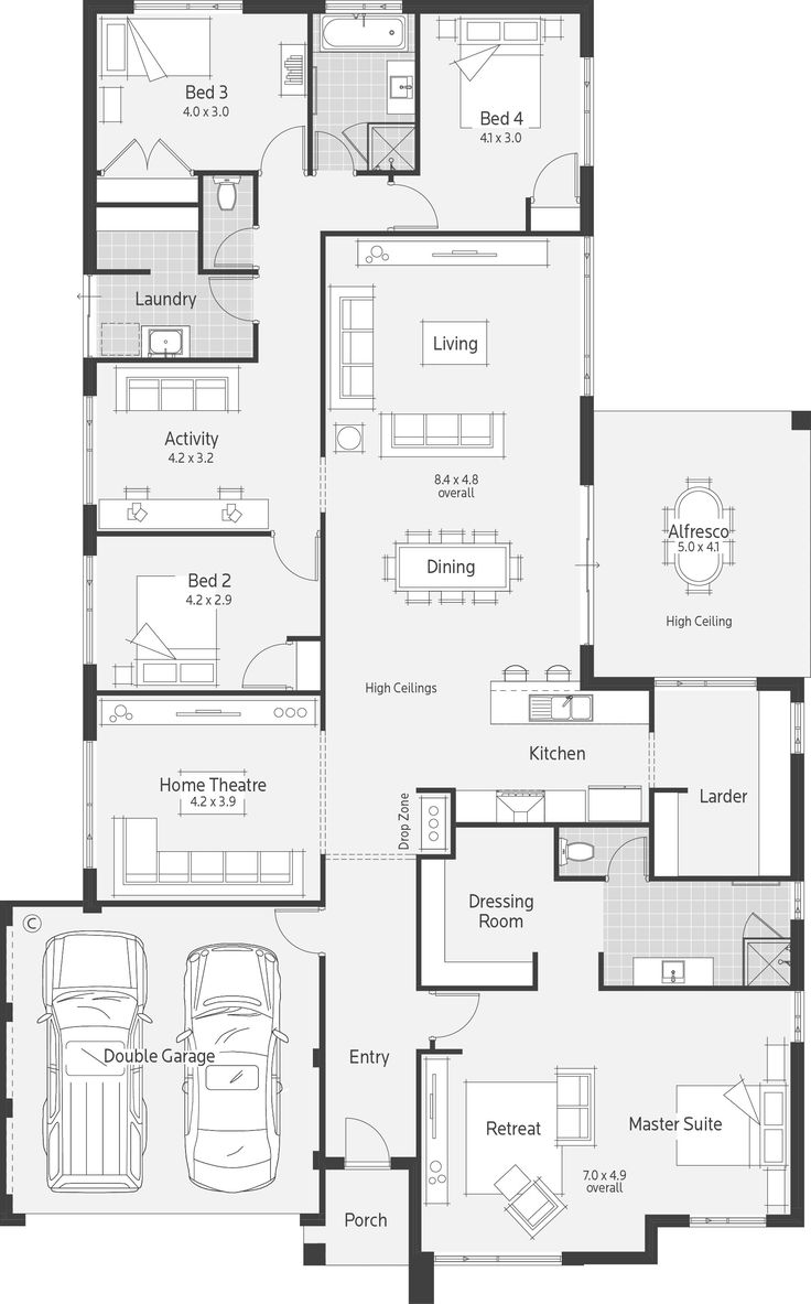 Nice Floor Plan, Some Ideas: Bed 4 U0026 Bath (extend Out) As