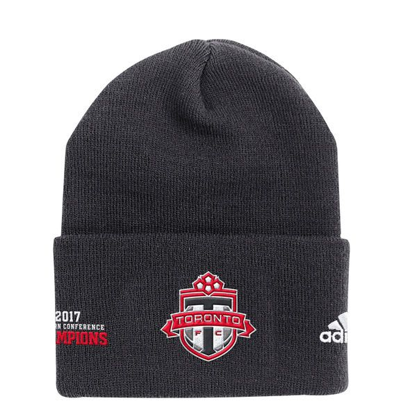 * Men's Toronto FC adidas Black 2017 MLS Eastern Conference Champions Knit Beanie, Your Price: $24.99