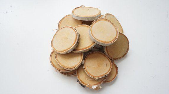 20 Small Birch Tree Slices 1 1 2 1 7 8 Inch Ornament Blanks Bulk Mini Log Slabs Tiny Wood Discs Pyrography Supplies Wood Slices Tree Slices Wood