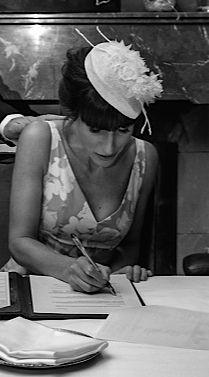 The House Of Hats custom made bridal headpiece for bird Cindy