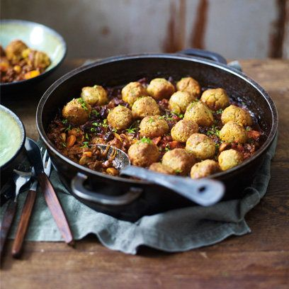 Heston Blumenthal's traditional minced beef and dumplings recipe on redonline