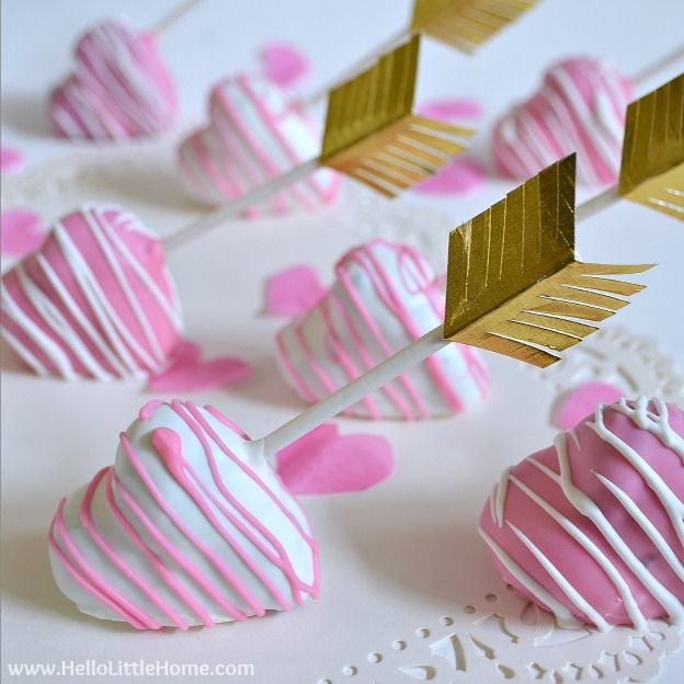 Instead of a normal box of chocolates for Valentines Day why not have chocolate dipped cake?  These heart-shaped cake pops will melt the heart of your sweetheart any day. Get the recipe from Hello Little Home »  - GoodHousekeeping.com