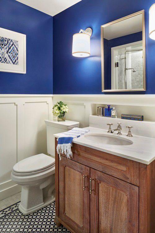 royal blue powder room