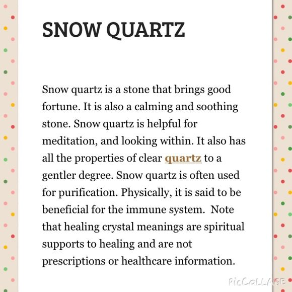 GEMSTONE MEANING: SNOW QUARTZ