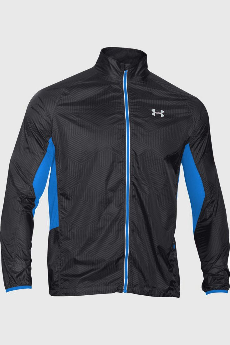 Under Armour UA ColdGear® Infrared Storm Packable Jacket in Black: This Coldgear Infrared Storm Packable Jacket has a soft, thermo-conductive inner coating to retain your body heat. The lightweight exterior uses a DWR finish to repel water, and mesh underarm panels keep you cool. This jacket also has an adjustable hem, secure pocket with headphone port, reflective details and weighs only 30g!