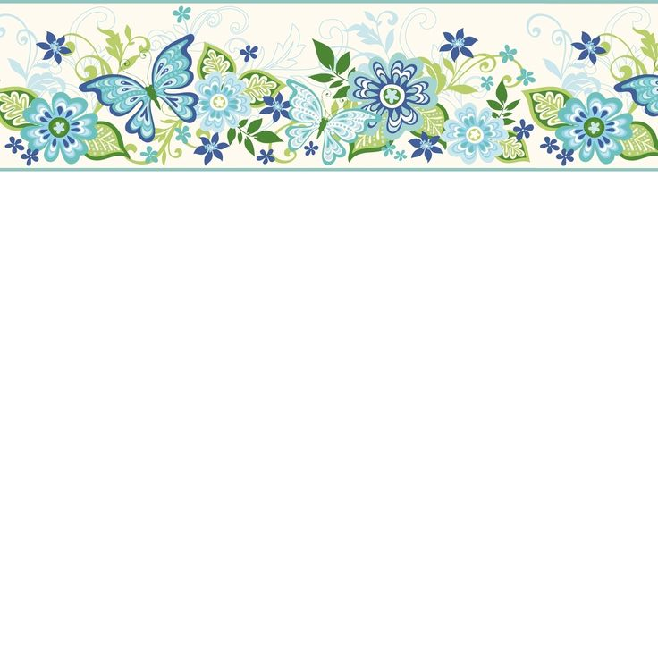 photos Kendra Pink Butterflies Blooms Trail Border Swatch traditional wallpaper