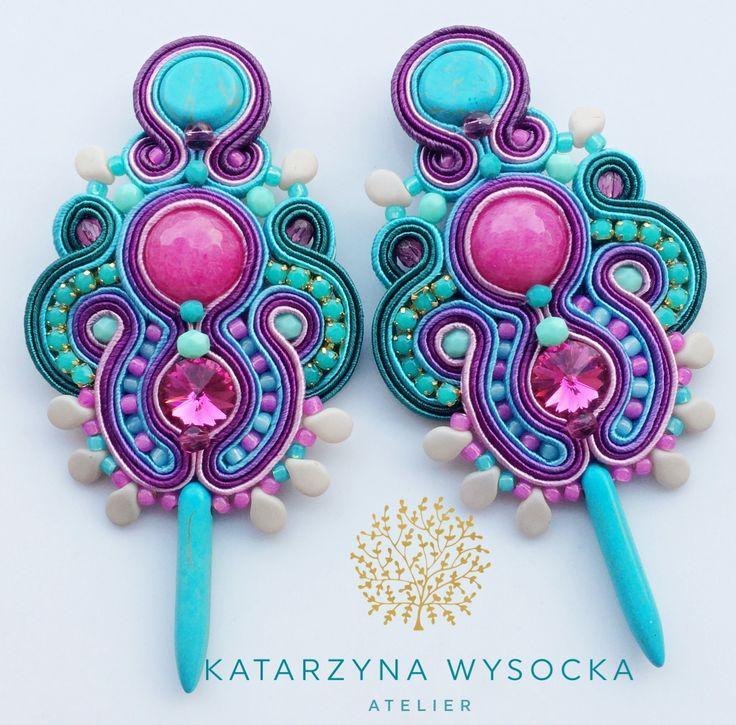 soutache earrings Atelier Magia by Katarzyna Wysocka