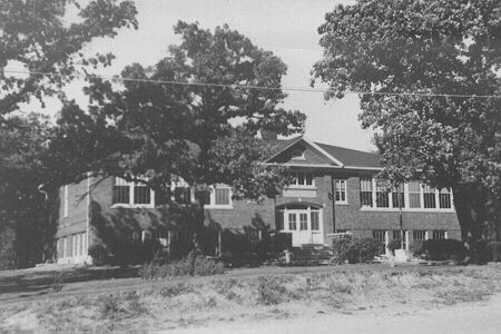 Early 1930s. Orland Park School at 143rd Street and West Ave. The adjacent limestone gym was constructed as part of a federal work project in 1937. Orland Park School was the local high school until Carl Sandburg High School opened in the mid-1950s.