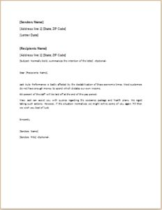 Layoff Letter DOWNLOAD at http://www.templateinn.com/40-official-letter-templates-for-everyone/