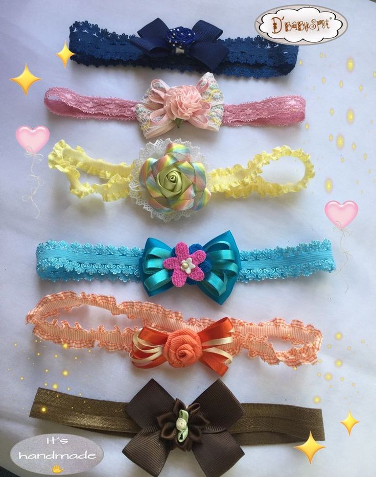 Lot Of 6 Baby Headband! Cute Baby Handmade Headbands   | eBay