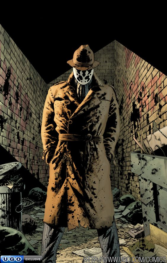 The entire Watchmen graphic novel is a work of art. I love how dystopian noir it is.