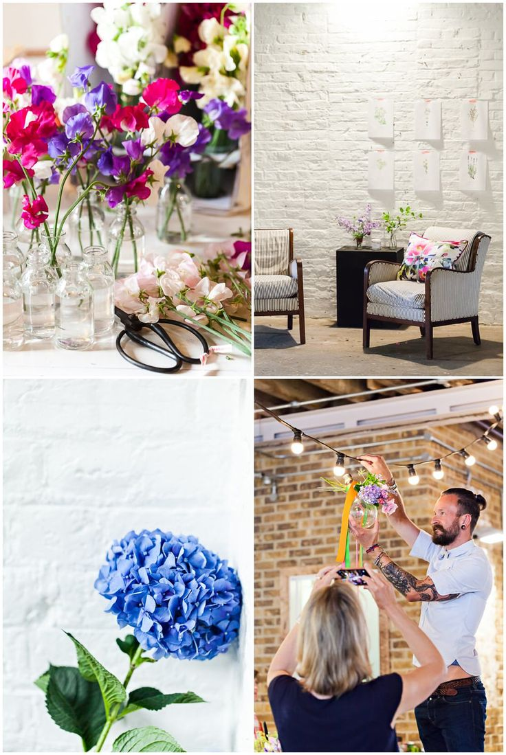 social media for florists workshop with fiona humberstone and rona wheeldon at brixton east simon lycett