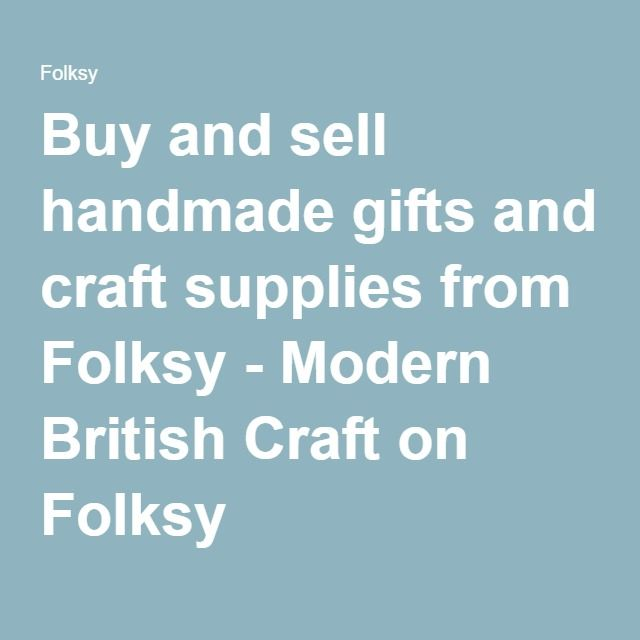 Buy and sell handmade gifts and craft supplies from Folksy - Modern British Craft on Folksy