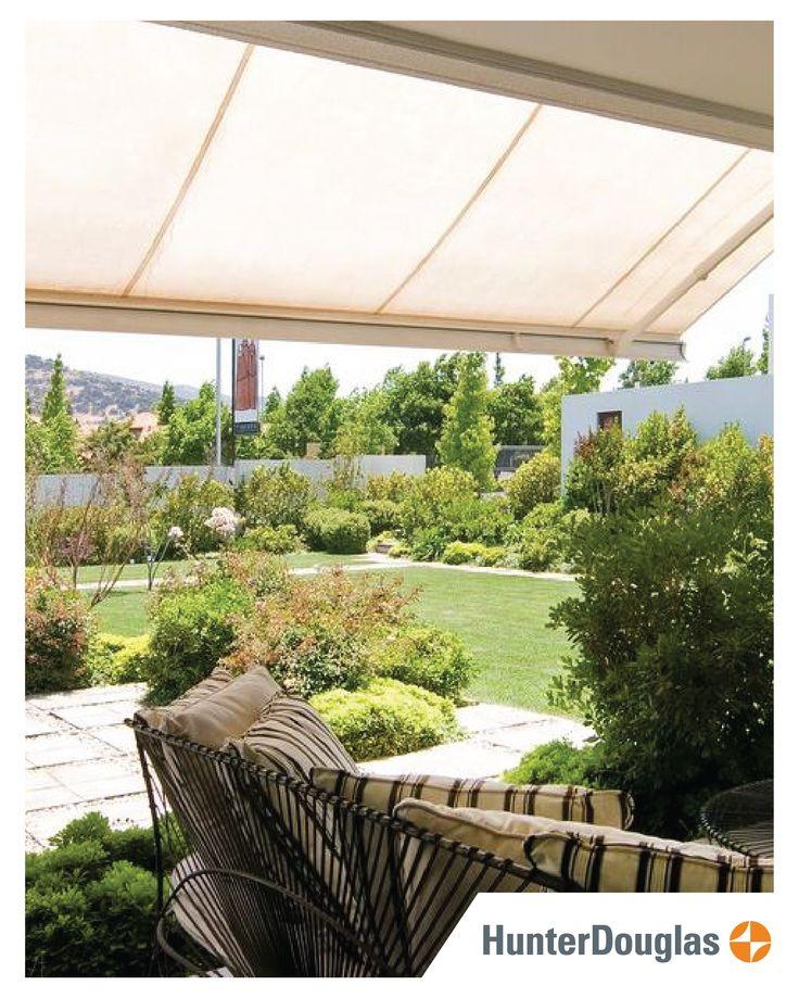 Disfruta tus espacios exteriores y controla la luz solar en terrazas con los #Toldos HunterDouglas®.  Fabricados en telas importadas en una amplia gama de colores y diseños. #HunterDouglas #HunterDouglasCA #Centroamérica #terrazas #exteriores #decor #Diciembre