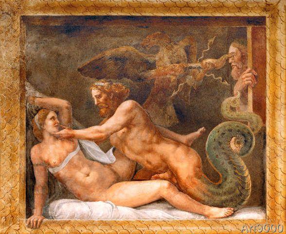 Rinaldo Mantovano - Zeus (Jupiter) and Olympia