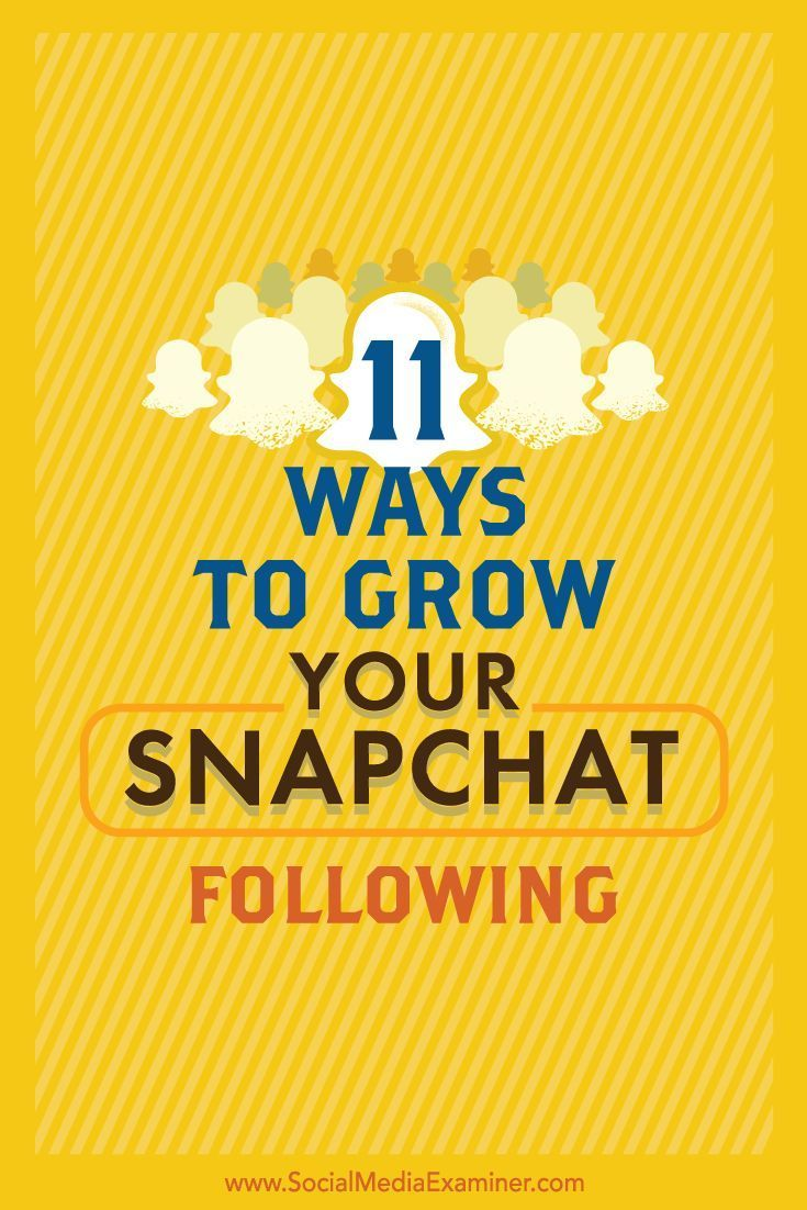 Is your business on Snapchat? One of Snapchats biggest challenges is its limited features for getting discovered by other users. In this article, youll discover 11 simple ways to grow your audience on Snapchat. Via @smexaminer.
