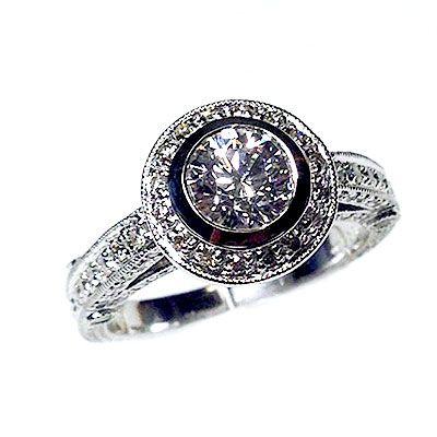 'Halo' Engagement Ring - Round Diamond - Diamond Imports