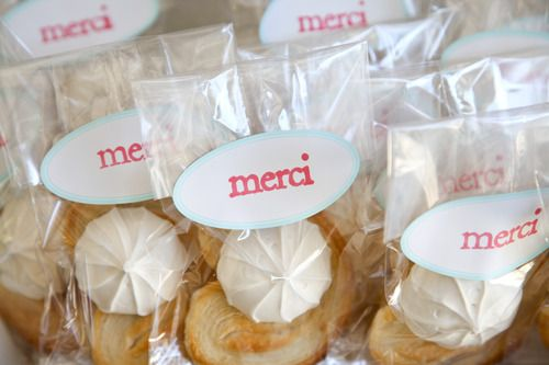 favor packets - French Themed Birthday Party