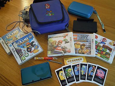 Nintendo 3ds #bundle - console, charger, #case, bag, #memory card, games, ar card,  View more on the LINK: http://www.zeppy.io/product/gb/2/191955611818/