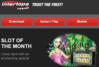End of April Bonus up to $500 and 50 Free Spins at Intertops Red Casino