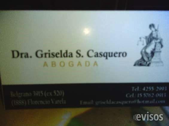 ESTUDIO JURIDICO EN FLORENCIO VARELA. DRA GRISELDA CASQUEROABOGADA EN DERECHO LABORAL, DESPIDOS, TRABAJO EN NEGRO, ACCIDENTES LABORALES, FAMILIA, DIVORCIOS, ... http://florencio-varela.evisos.com.ar/estudio-juridico-en-florencio-varela-dra-griselda-casquero-id-974402