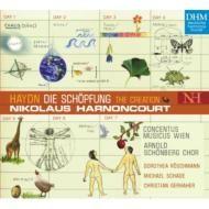 Franz Joseph Haydn   Nikolaus Harnoncourt   ウィーン・コンツェントゥス・ムジクス創立50周年記念リリース!  アーノンクールによる17年ぶりの『天地創造』!  ハイドン:オラトリオ「天地創造」(全曲)    アーノンクールBMGクラシックス第3弾=歴史と栄光の『ドイツ・ハルモニア・ムンディ』レーベルに初登場!    『ブルックナー:交響曲第9番』『スメタナ:わが祖国』に続く、ニコラウス・アーノンクールのBMGクラシックス第3弾は、2003年3月にウィーンでライヴ収録されたハイドンのオラトリオ『天地創造』全曲盤。   今回はBMGクラシックスの誇る時代考証演奏専門のレーベル、ドイツ・ハルモニア・ムンディ・レーベルからの発売。    ピリオド楽器演奏のパイオニア、ウィーン・コンツェントゥス・ムジクス創立50周年を記念する名演!