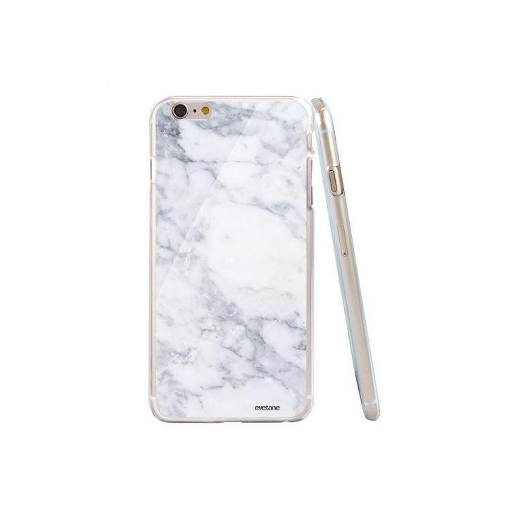 Coque Glossy Rigide Marbre White Pour Iphone 6/6s – Taille : Taille Unique