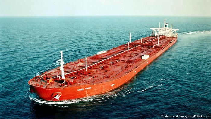 Öltanker Jahre Viking auf hoher See (picture-alliance/dpa/DPA Report)