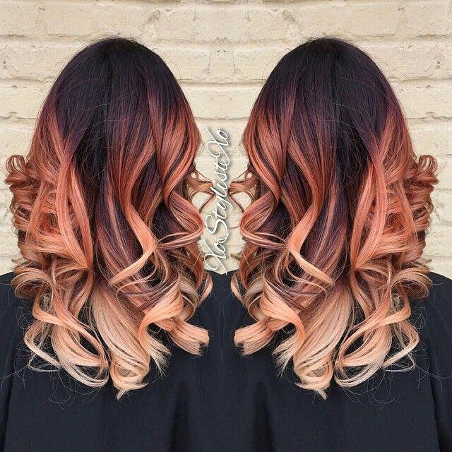 Apricot Vanilla Swirl Hair