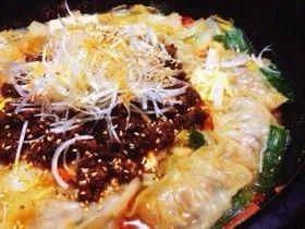 体ポカポカ!坦々餃子鍋 by みゆsunごはん 【クックパッド】 簡単おいしいみんなのレシピが276万品