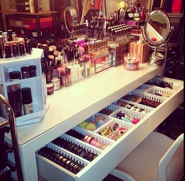 Drawer Storage Organising for the Ikea Malm Dresser | Makeup Organisation…