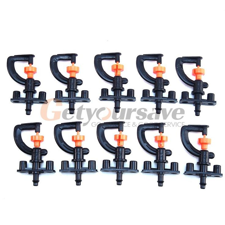 10pcs 360 degree garden and irrigation micro adjustable sprinkler heads     Explanation:   Pressure:1.5-3.0KG   Flow rate:40-150L/H   Spray radius:2.8-4.0 meters   Connection size: 8mm hose pipe+1/4 hose pipe    Packing include:   10 x sprinkler heads        US $2.99  http://insanedeals4u.com/products/10pcs-360-degree-garden-and-irrigation-micro-adjustable-sprinkler-heads/  #shopaholic #dailydeals