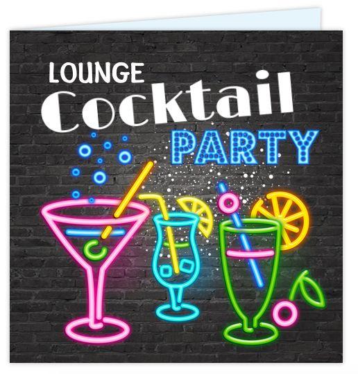 Super gave uitnodiging voor bijvoorbeeld je 30ste verjaardag! Met verschillende neon gekleurde cocktail glazen en lichtbak letters bar en party. Alles is geheel zelf aan te passen. Enveloppen zijn los bij te bestellen.