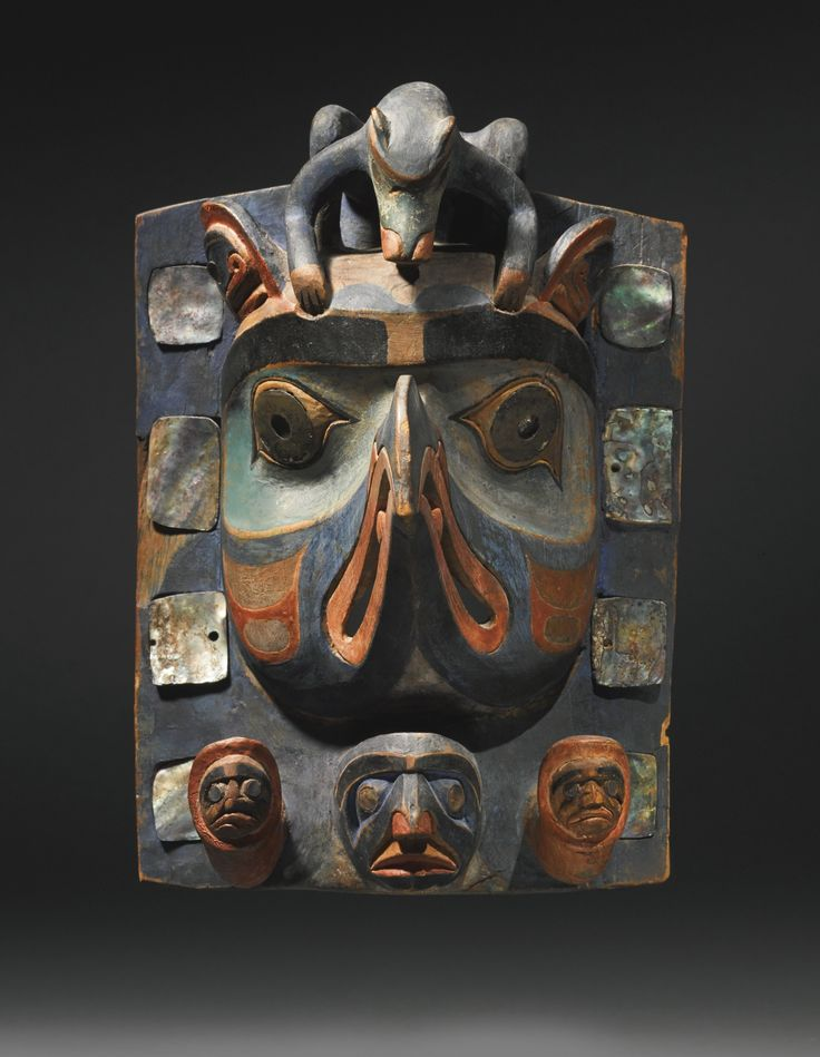 Northwest Pacific Coast Polychromed Wood Headdress, probably Nuxalk (Bella Coola) | Sotheby's