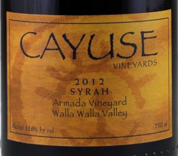 2012 Cayuse Syrah Armada Vineyard