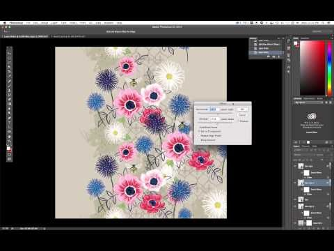 ▶ How To Create A Seamless Repeat For Spoonflower Using Adobe Illustrator & Photoshop