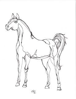 Free Printable Horse coloring Page is featured in Top 5 DIY Tutorials – Feature Friday