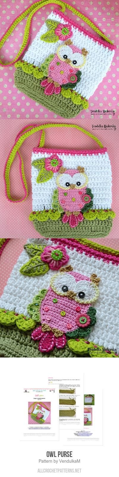 Owl purse crochet pattern