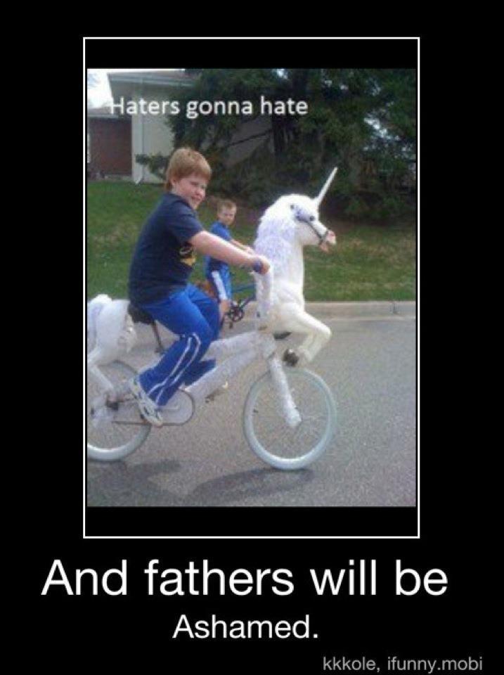 Hehehe: Like A Boss, Gonna Hate, Unicorns Bike, Hate Gonna, Bicycles, Riding A Bike, Funny Stuff, Kids, Likeaboss