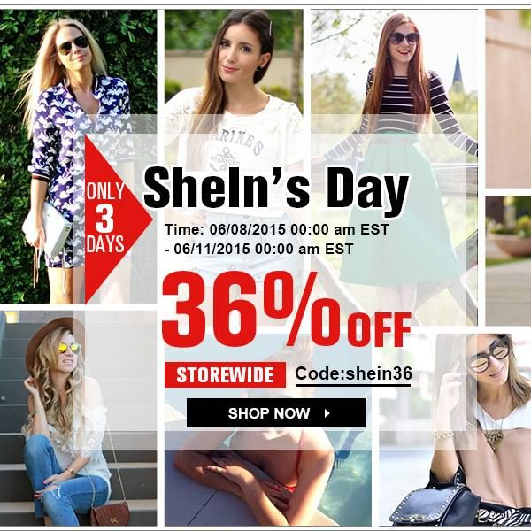 To celebrate Sheinside changes its name into SheIn, we have held a large-scale promotional activity for our long-term SheIn supporters!  #SheInShineOut