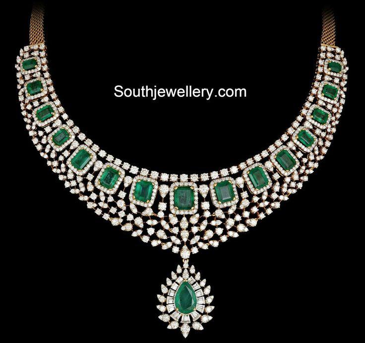 diamond emeralds necklace